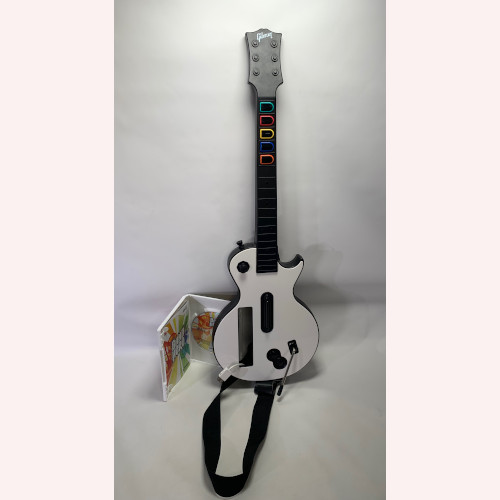 Wii Guitar Hero Wireless Les Paul Controller and Band Hero Game
