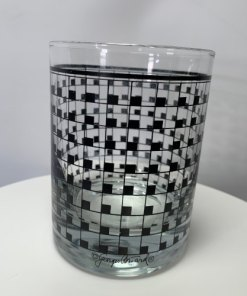 Georges Briard Glassware Black Grid