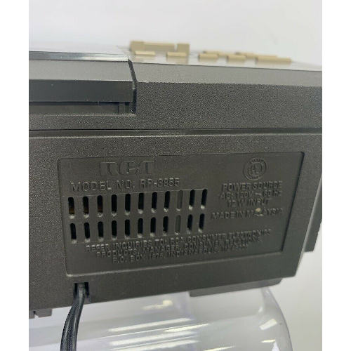 RCA AM/FM Stereo Clock Radio Cassette Recorder RP-3855