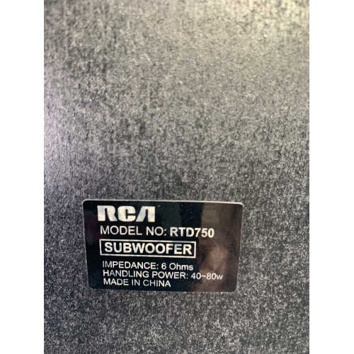 RCA RTD750 Home 250w Theatre Surround Subwoofer
