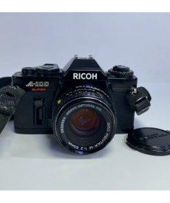Ricoh A-100 Super 35MM SLR film Camera & SMC Pentax-M 1:2 50mm Asahi Optical Len