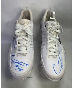 Carl Landry #14 Houston Rockets Basketball Shoe Sz 15 Nike Blue Chip Low.