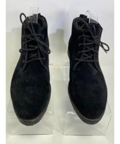 Eddie Bauer Black Suede Leather Ankle Chukka