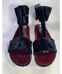 Zara Women Velvet Wrap Gladiator Sandals Purple Lavender