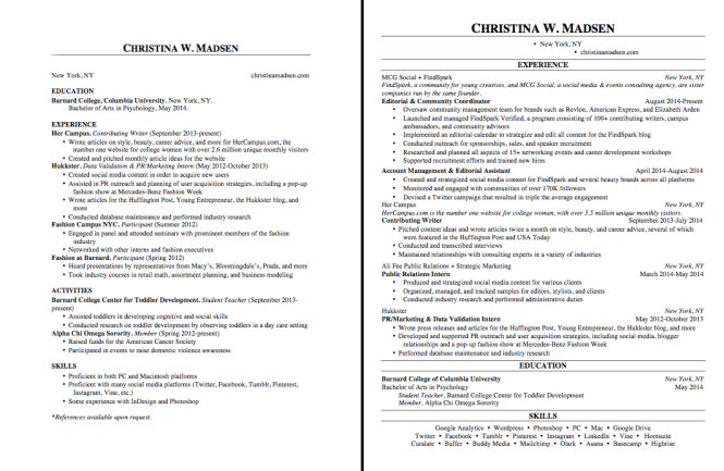 how to write one page resume resume sample