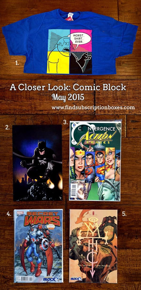 Comic Block May 2015 Box Review Coupon Find
