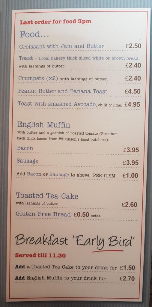 food menu avanti