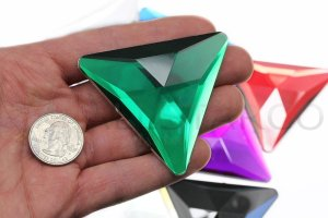 Flat Back Triangle Acrylic Gems