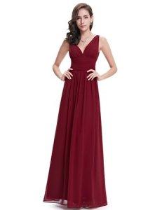 Sleeveless V-Neck Semi-Formal Maxi Dress