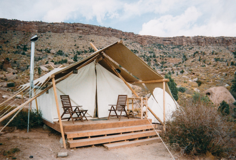 Under Canvas Glamping Tent at Zion National Park