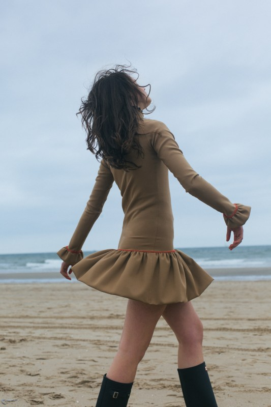 Girl In Dress At The Beach at the Beach by Photographer Riemkje Poortinga for Elsewhere