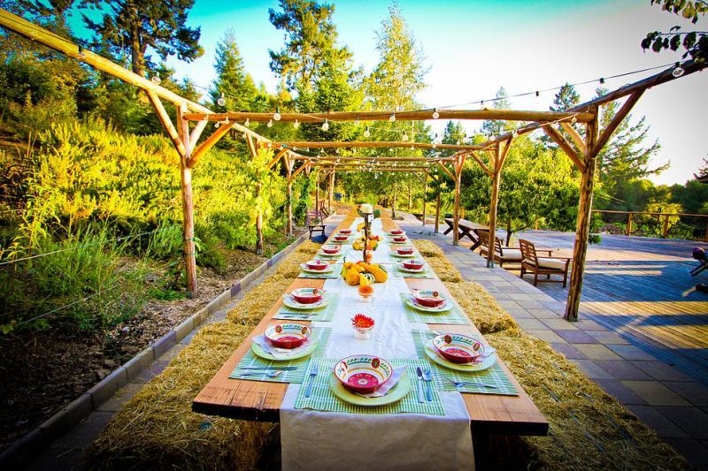 Destination Retreats - The Lotus Feed Dinner Table