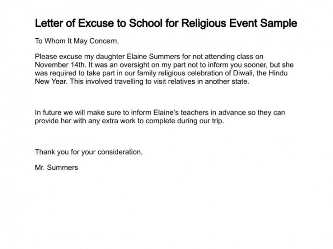 excuse letter for exam absence 5 excuse letters find word letters 22371 | Excuse letter 02