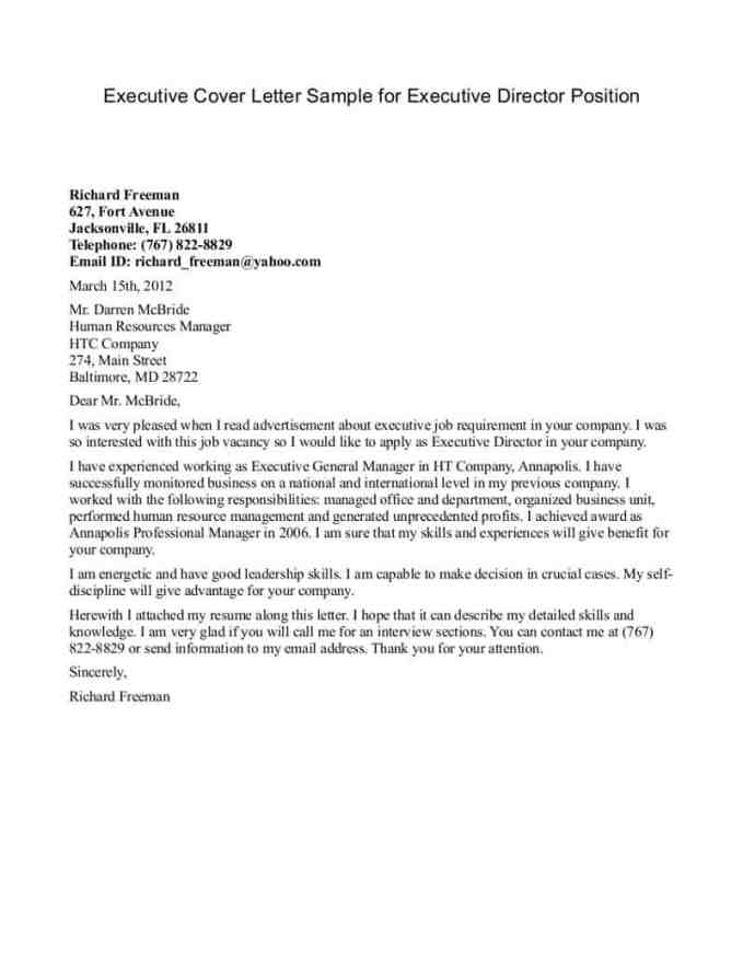 Executive Resume Cover Letter 02