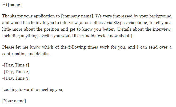 interview request letter