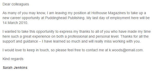 thank you letter for job opportunity