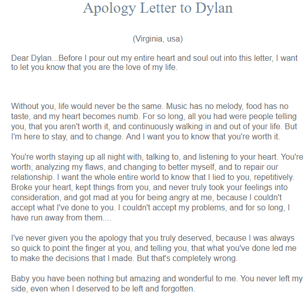 5 Apology Love Letters Find Word Letters