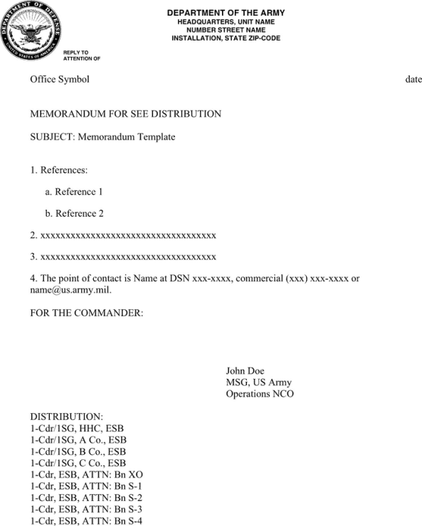 Army memorandum templates find word templates army memorandum template 1 maxwellsz