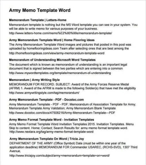 Army Memorandum Template 3.