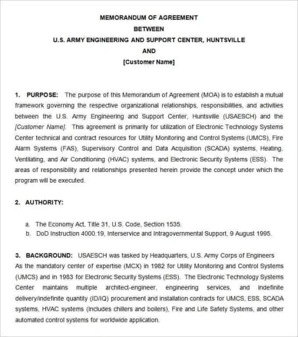 Army Memorandum Template 7.