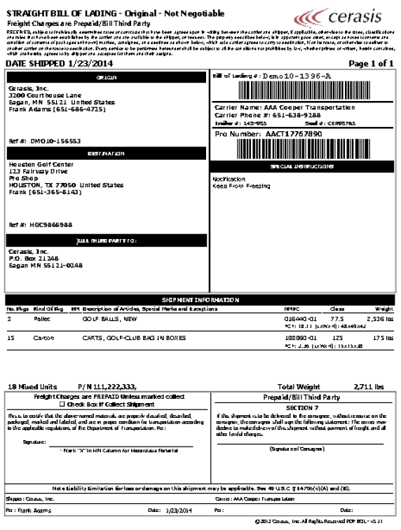 Bill Of Lading Template 4.