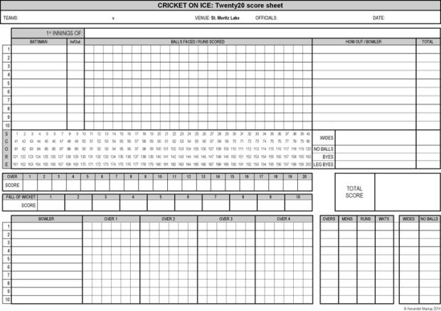 Cricket Score Sheet Excel 9.