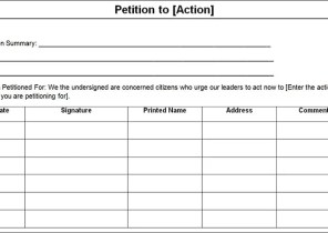 petition template microsoft word