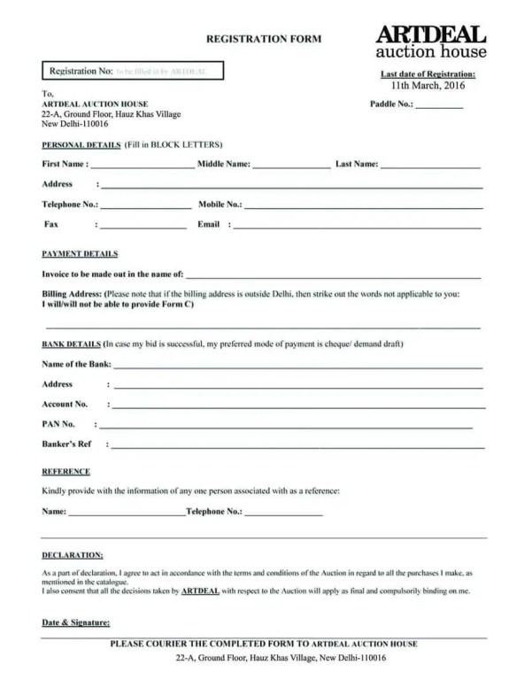 Registration Form Template 6.
