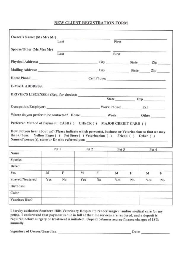Registration Form Template 7.