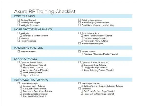 outstanding training checklist template gift example resume ideas