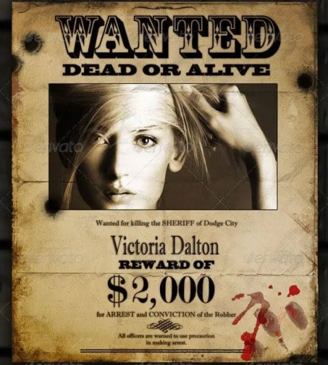 Wanted Poster Template 8.