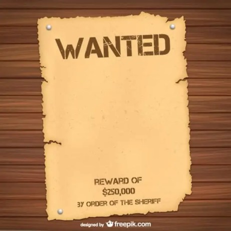 Wanted Poster Template 9.