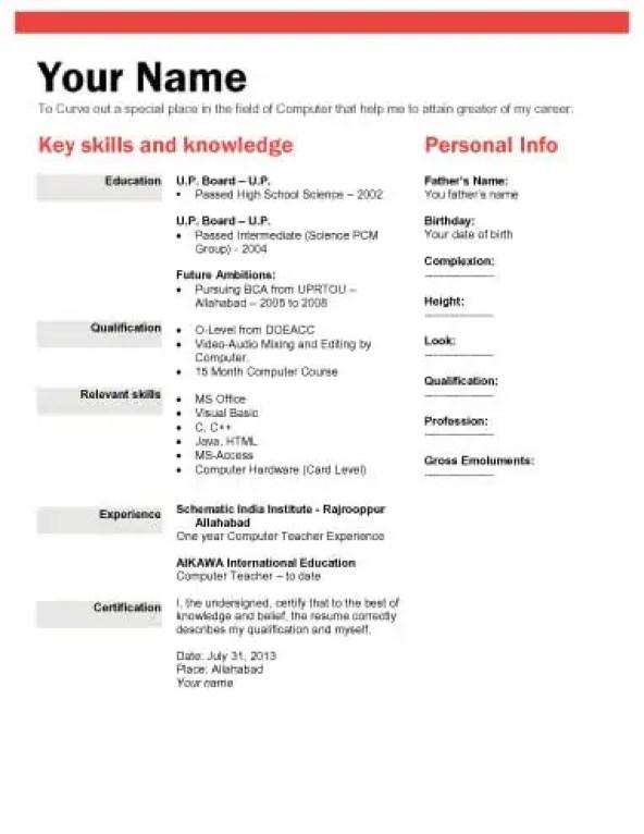 bio-data-form-4. Job Application Form Template Word Free Restaurant on