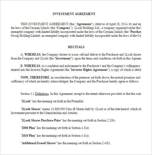 investment contract template 6.
