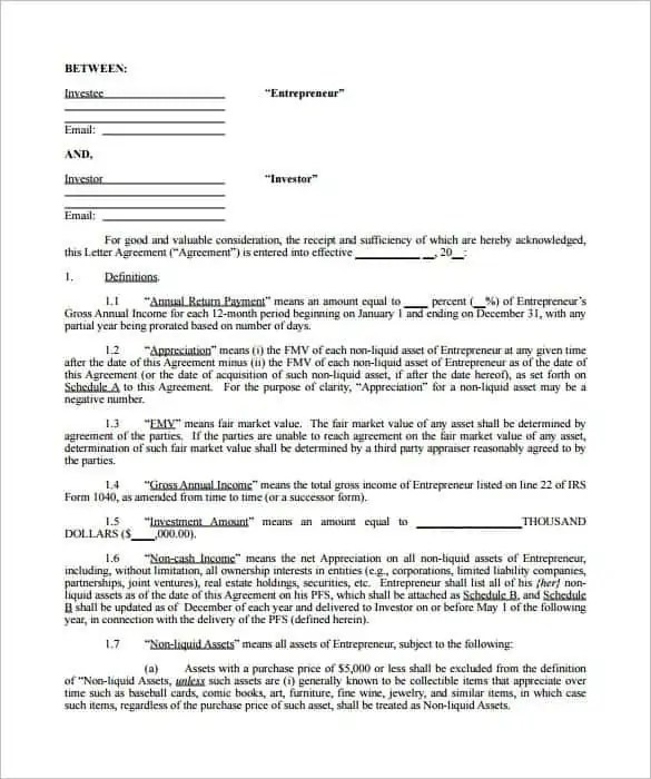 investment contract template 7
