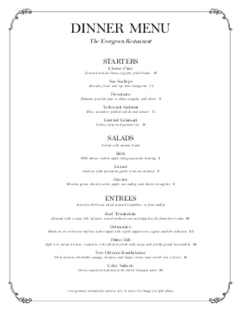 menu template 5.