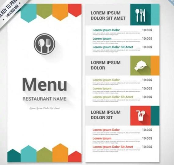 menu template 7.