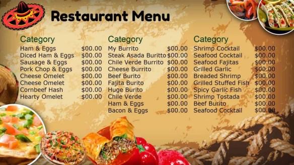 menu template 8.