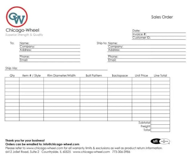 sales order template 9.