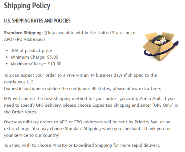 shipping policy template 7.