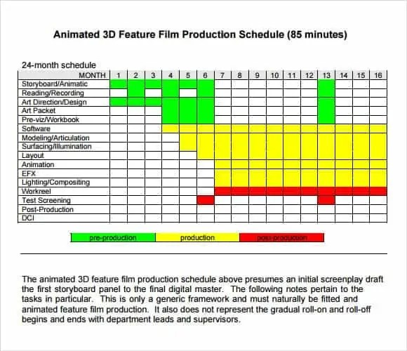 Shooting Schedule Templates - Find Word Templates