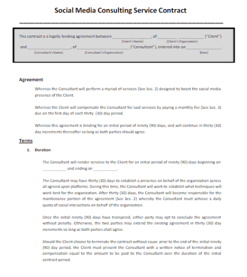 social media contract 6.