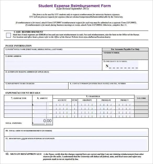 reimbursement form word - Besik.eighty3.co