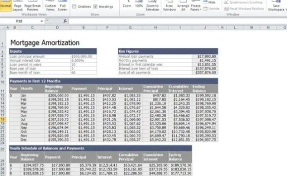 mortgage calculator excel