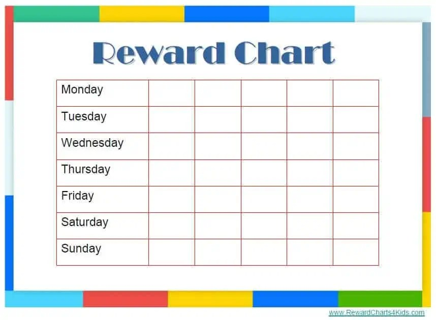 Reward Chart Template 8  Incentive Chart Template