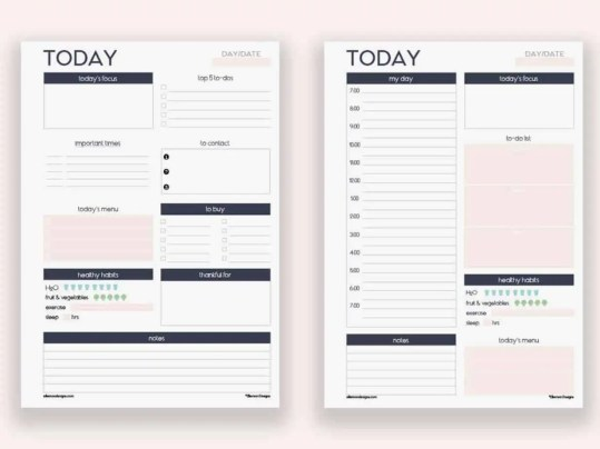 daily planner template 7.