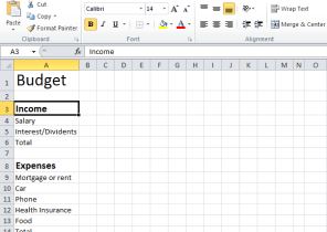 excel budget sheets
