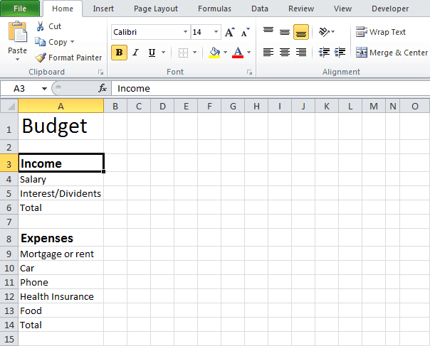 excel budget template 1.