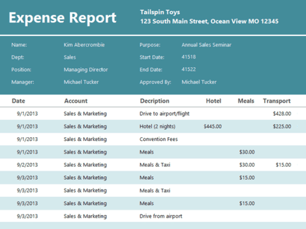expense report template 4.