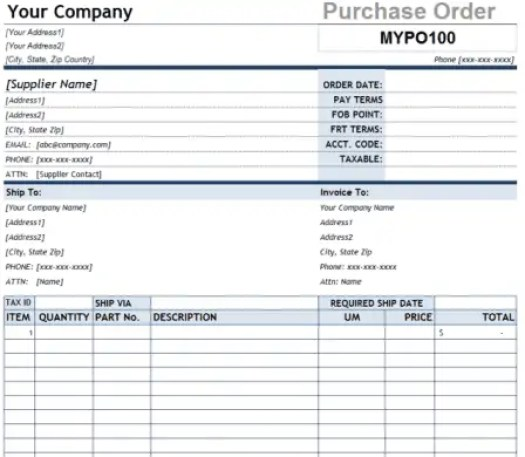 purchase order template 2.